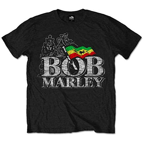 Bob Marley and the Wailers Logo Reggae Rock offiziell Männer T-Shirt Herren