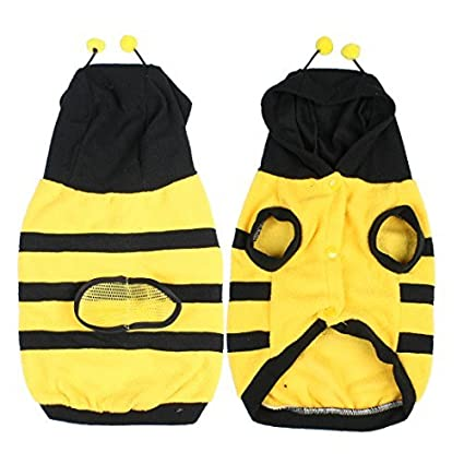 eDealMax Escudo Fleece Traje de abejorro abeja Tamaño Doogie ropa Para Perros de juguete Para mascotas