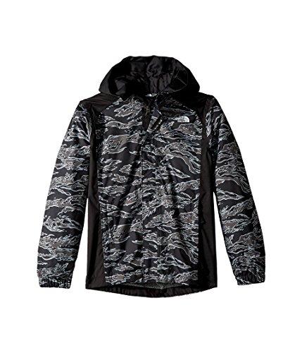 (The North Face Kids Boy's Resolve Reflective Jacket (Little Kids/Big Kids) TNF Black Tiger Camo Print (Prior Season) Large)