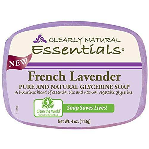Clearly Natural Glycerin Bar Soap, French Lavender, 4 Ounce ()