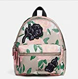 COACH MINI CHARLIE BACKPACK WITH CAMO ROSE FLORAL