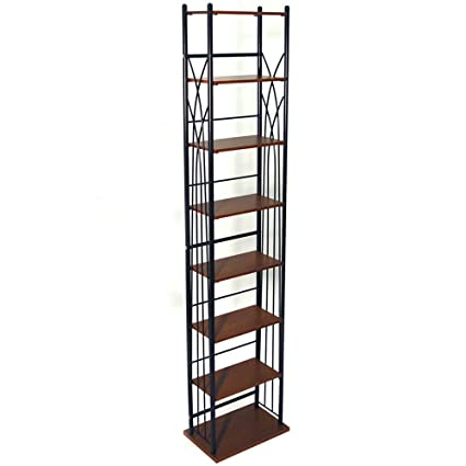 WATSONS Dakota - 140 DVD Blu-Ray 210 Cd Media Storage 7 Tier Tower Shelves - Black