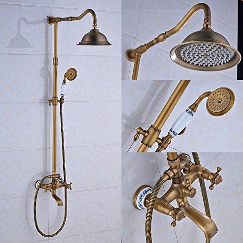 Rozin Wall Mounted Bathroom Rainfall Shower Faucet Set Tu...