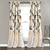 Lush Decor Bird Breeze Room Darkening Window Curtain Panel Set, 84' x 52'/2', Multicolor