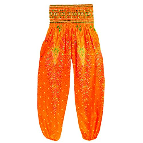 Bovake - Leggings sportivi -  donna Nero Orange X-Large