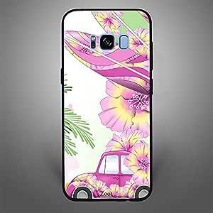 Samsung Galaxy S8 Plus Pink Car n Leaves