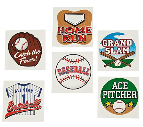 Fun Express Temporary Baseball Tattoos