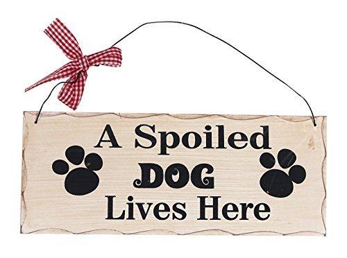 (A Spoiled Dog Lives Here Wood Plaque Vintage Wood Sign Gift for dog lover 10