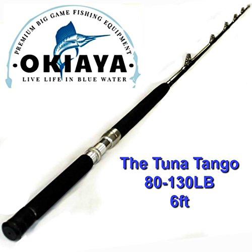 OKIAYA COMPOSIT 80-130LB Tuna Tango Saltwater Big Game Roller Rod(6 Foot ()