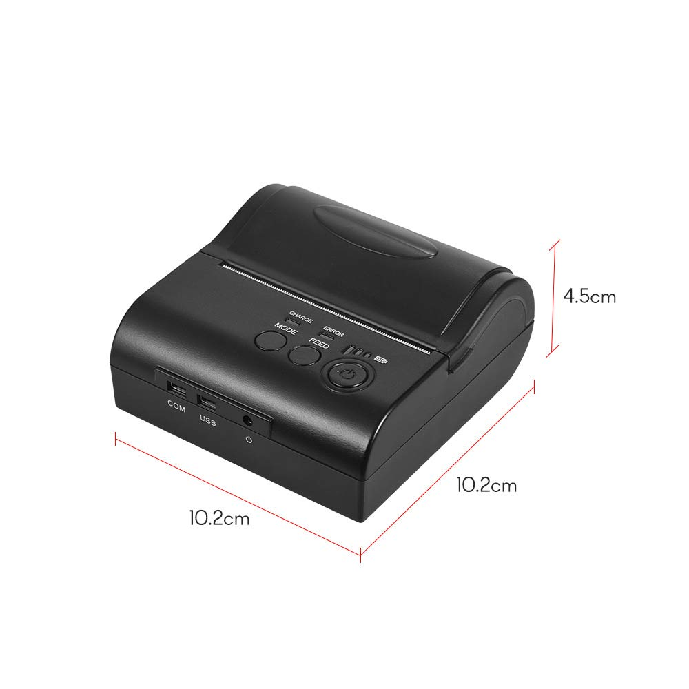 Aibecy Mini impresora personal portátil de recibos térmicos ...