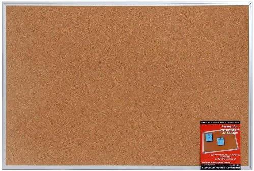 2436COA Dooley Aluminum Framed Cork Board 24 X 36 Inch 1 Board