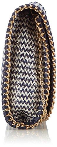 SaccessDY15233 - Borsa a tracolla Donna Multicolore (Nero)
