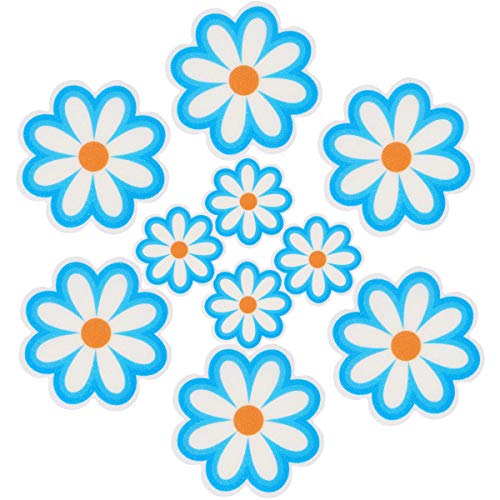Pack of 10,Non Slip Bathtub Stickers,Adhesive Decals With Bright Colors,Ideal Large Appliques For Your family's Safety,Suit for Bath Tub,Stairs,Shower Room & Other Slippery Surfaces(Water Blue)