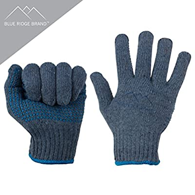 Blue Ridge Brand Blue/Gray Cotton Gloves
