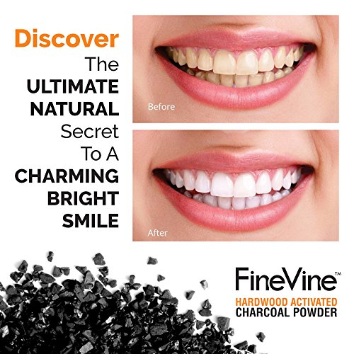 Activated Hardwood Charcoal Powder - Made in USA - Food Grade for Detox, Teeth whitening, Face Mask, Helps Digestion, Bug Bites, Treats Poisoning and Wounds. by FineVine (Image #3)