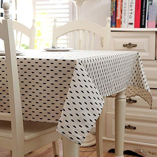 Tablecloth 1-Pedazo de algodón de Lino Negro y Puntos Blancos manteles Mantel Cuadrado Rectángulo Cubierta de Mesa Mantelería,D,140x180cm: Amazon.es: Hogar