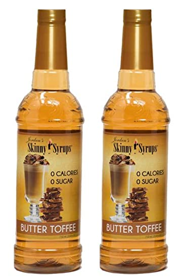 b8a2dd62bb0c Jordans Skinny Traditional Sugar Free Syrups 750 ml 2 Bottles (Butter  Toffee (English Toffee))