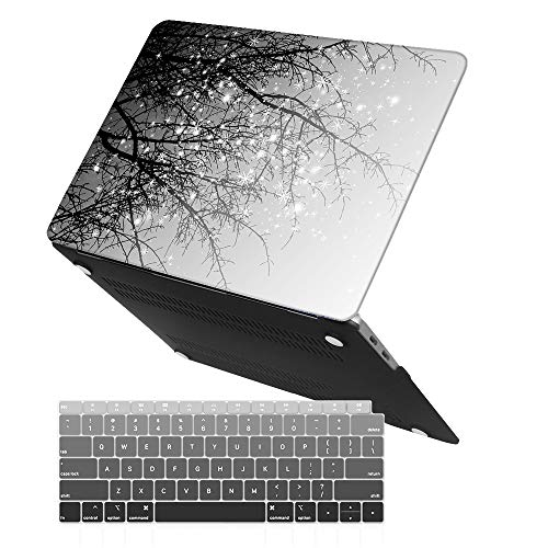 iCasso MacBook Air 13 Inch Case 2018 Release A1932 with Retina Display, Durable Rubber Coated Plastic Cover with Keyboard Cover Compatible Newest MacBook Air 13 with Touch ID, Gary Tree