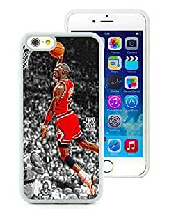 New Custom Design Cover Case For iPhone 6 4.7 Inch Michael Jordan 5 White Phone Case