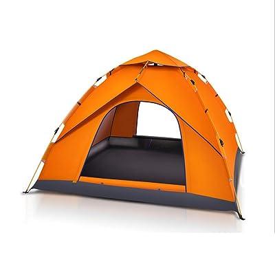 XG 3-4 dîner de camping automatique tente respirer la tente de barre de fibre de verre imperméable à l'eau