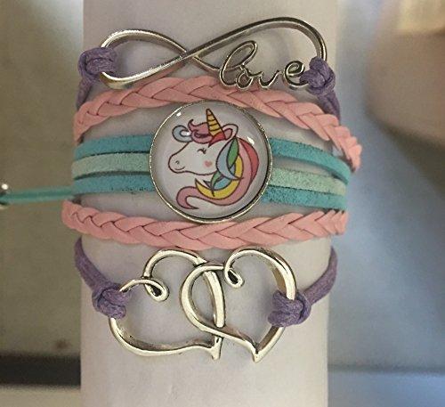 Collection Infinity Bracelet /à Breloques Licorne pour Filles