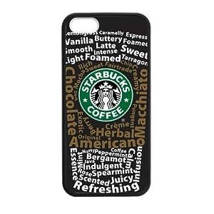 Laser phone covers Custom Starbucks Logo Protective TPU Case Cover Skin for Apple iphone 4 4s 1 Pack - Black - 1
