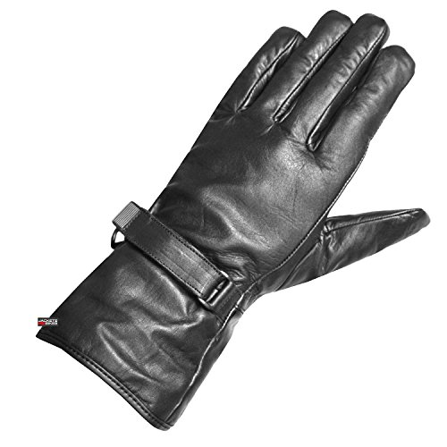 Leather Biker Gauntlets - 9