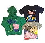 Peppa Pig George Toddler Little Boys 3 pc. Shirt Hoodie Set (3T)MULTI