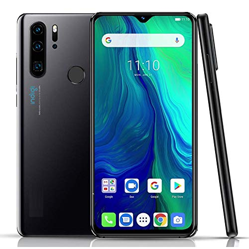 Unlocked 4G Smart Cell Phone 6.3in Full Face Touchscreen Android 9 Google Play Store Fingerprint ID - AT&T T-Mobile (Obsidian Black)