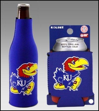セットの2 Kansas Jayhawks Can & Bottle Koozie Cooler B002OC1J4I