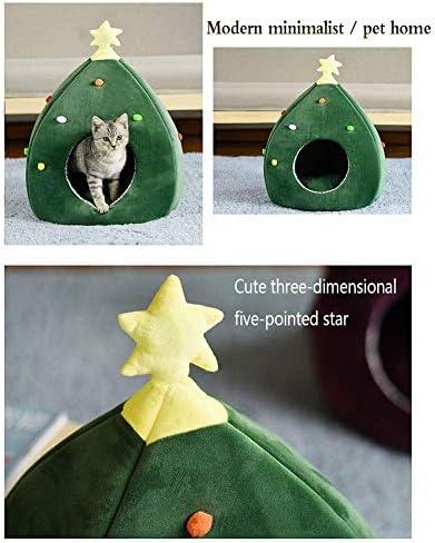 YUMUO ? Pet House Lovely Christmas Tree Cachemire Doux Nid Chaud pour Animaux de Compagnie Amovibles et lavables (Couleur: A)