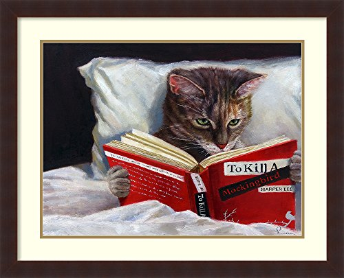 (Framed Art Print, 'Late Night Thriller' by Lucia Heffernan: Outer Size 32 x 26