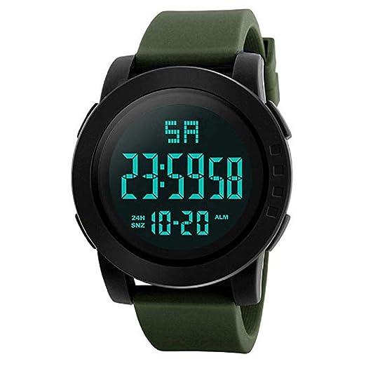 Mens Digital Relojes Deportivos Cara Grande Pantalla LED Impermeable Relojes Militares Casual Impermeable