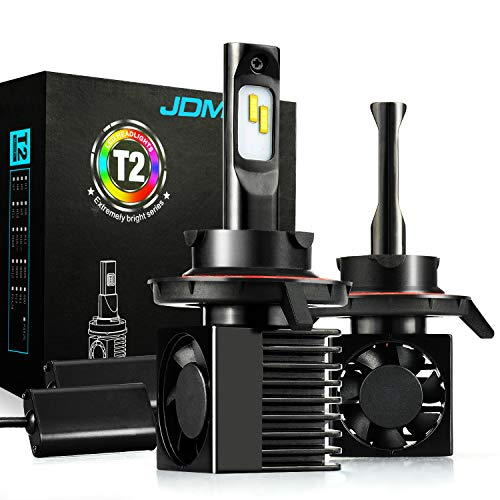 JDM ASTAR T2 High Performance H13 9008 Bright White Light Output More Downroad Visibility LED Headlight Bulbs