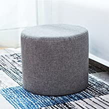 yazi Dark Grey Ottoman Cylinders Foot Rest Stool Seat Bench Footrest Seat 10'' by 11''(HxD)