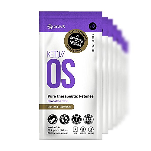KETO//OS Chocolate Swirl 3.0 CHARGED, BHB Salts Ketogenic Supplement - Beta Hydroxybutyrates Exogenous Ketones for Fat Loss, Workout Energy Boost and Weight Management through Fast Ketosis, 5 Sachets