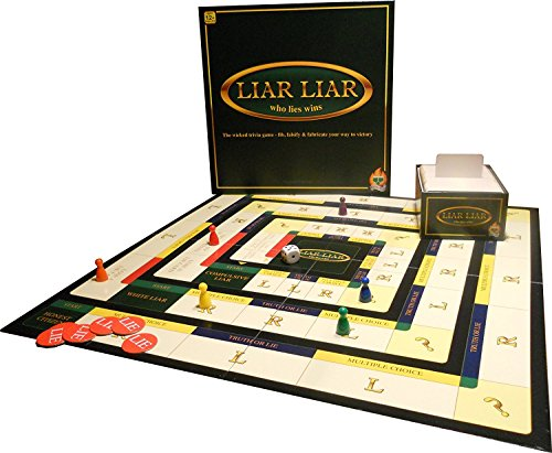 Liar Liar - Who Lies Wins - The Wicked Trivia Family Board Game - 2-6...
