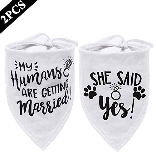 My Humans are Getting Married Dog Bandana, Wedding Dog Bandana, Dog Engagement Announcement, Wedding Photo Prop, Pet Scarf, Pet Accessories