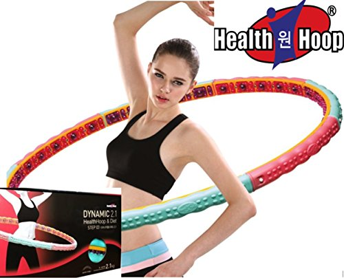 Health Hoop-Dynamic Magnetic Weighted Hoola Hula Hoop Exercise Fitness Diet 2.1kg 4.63lb Step 3