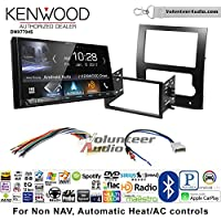 Volunteer Audio Kenwood DMX7704S Double Din Radio Install Kit with Apple CarPlay Android Auto Bluetooth Fits 2008-2012 Nissan Titan (Auto A/C Controls)