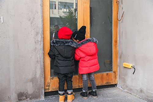 For Foyeria Warm Coat Baby Winter Girls Puffer Coat Outdoor Winter Jacket Down Windproof Black Boys tXqUzrX
