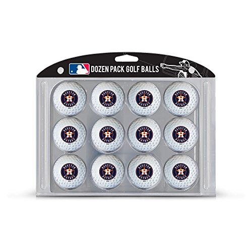 Team Golf MLB Houston Astros Dozen Regulation Size Golf Balls, 12 Pack, Full Color Durable Team ()