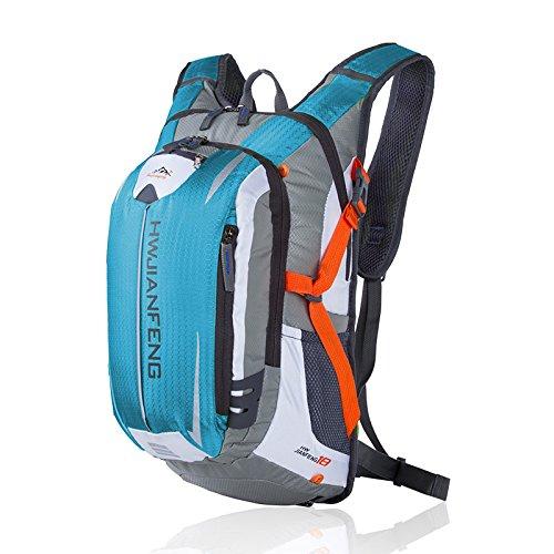 asdomo Outdoor Rucksack Klettern Tasche Reisen Wandern Camping Radfahren Jagd Wasserdicht Nylon Tasche hellblau 5TiVTe