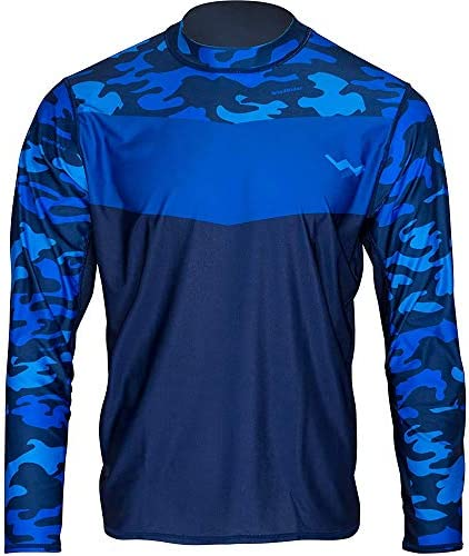 WindRider Long Sleeve Fishing Shirts for Men UPF 50+ Sun Protection with Mesh Sides Stain Resistant and Moisture Wicking