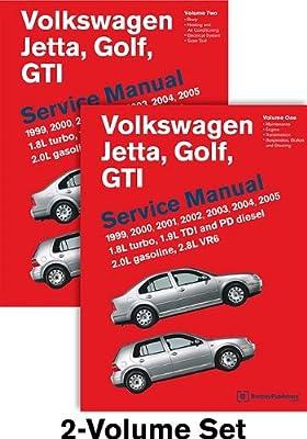Volkswagen Jetta, Golf, GTI (A4) Service Manual: 1999, 2000, 2001, 2002, 2003, 2004, 2005 - 2 VOLUME SET