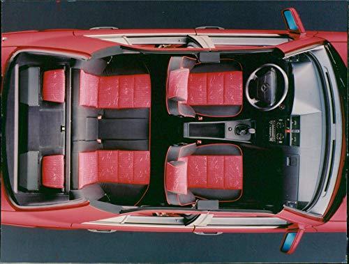 (Vintage photo of Mercedes-Benz c class interior of esprit model)
