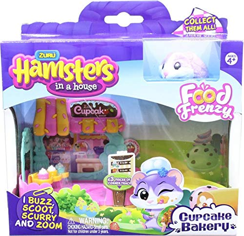 Hamsters in a House Zuru Little Cupcake Bakery Toy Shop Frostie (Hamsters In A House Playset Ultimate House)