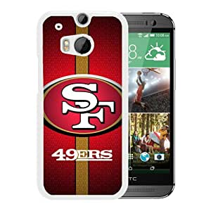 Custom Luxury Cover Case With San Francisco 49ers 37 White HTC ONE M8 Case