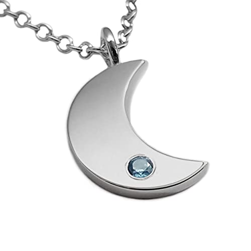 silver moon Moon necklace crescent moon necklace moon charm necklace half moon necklace 925 sterling silver moon necklace silver moon