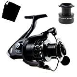 Cheap RUNATURE Fishing Reels Bait feeder Aluminum Spinning Reel, Light Weight Smooth Silence Performance, Left/right Interchangeable Collapsible Handle, Gear Ratio 5.2:1, for Freshwater and Saltwater (2000)